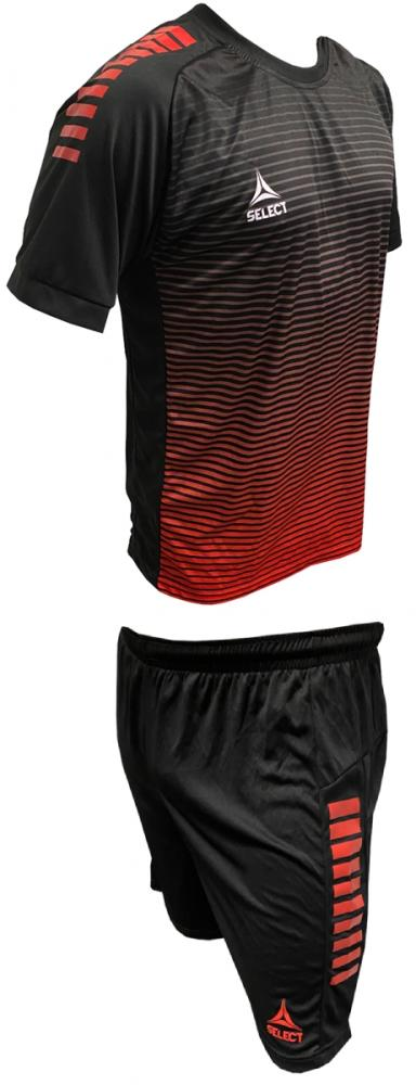 Ensemble maillot/short SELECT Zebra Noir/Rouge Homme