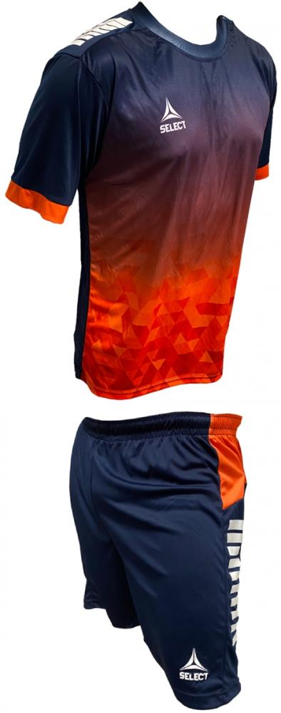 Ensemble maillot/short SELECT Fusion Marine/Orange Homme