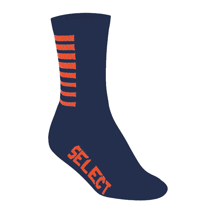 Chaussettes SELECT Striped Marine/Orange