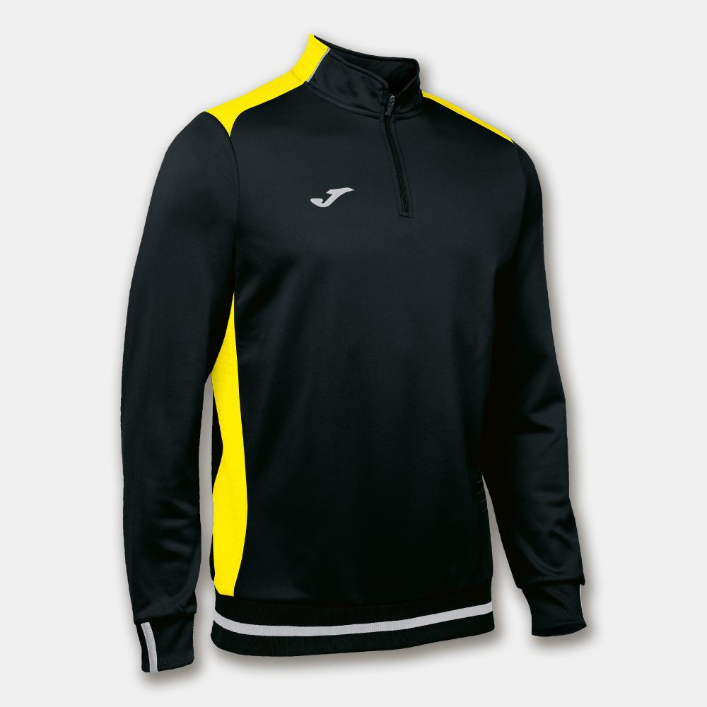 Sweat 1/2 Zip JOMA Campus 2 Noir/Jaune