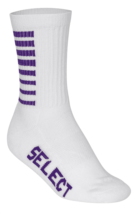 Chaussettes SELECT Striped Blanche/Violette